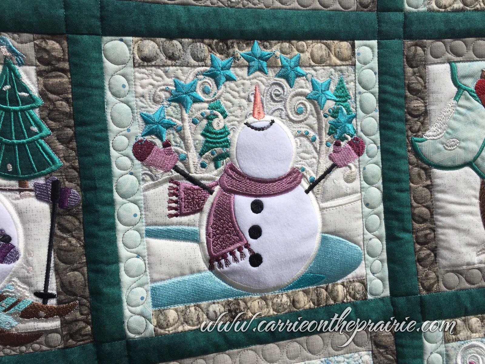 Carrie On The Prairie Lindas Snowman Quilt