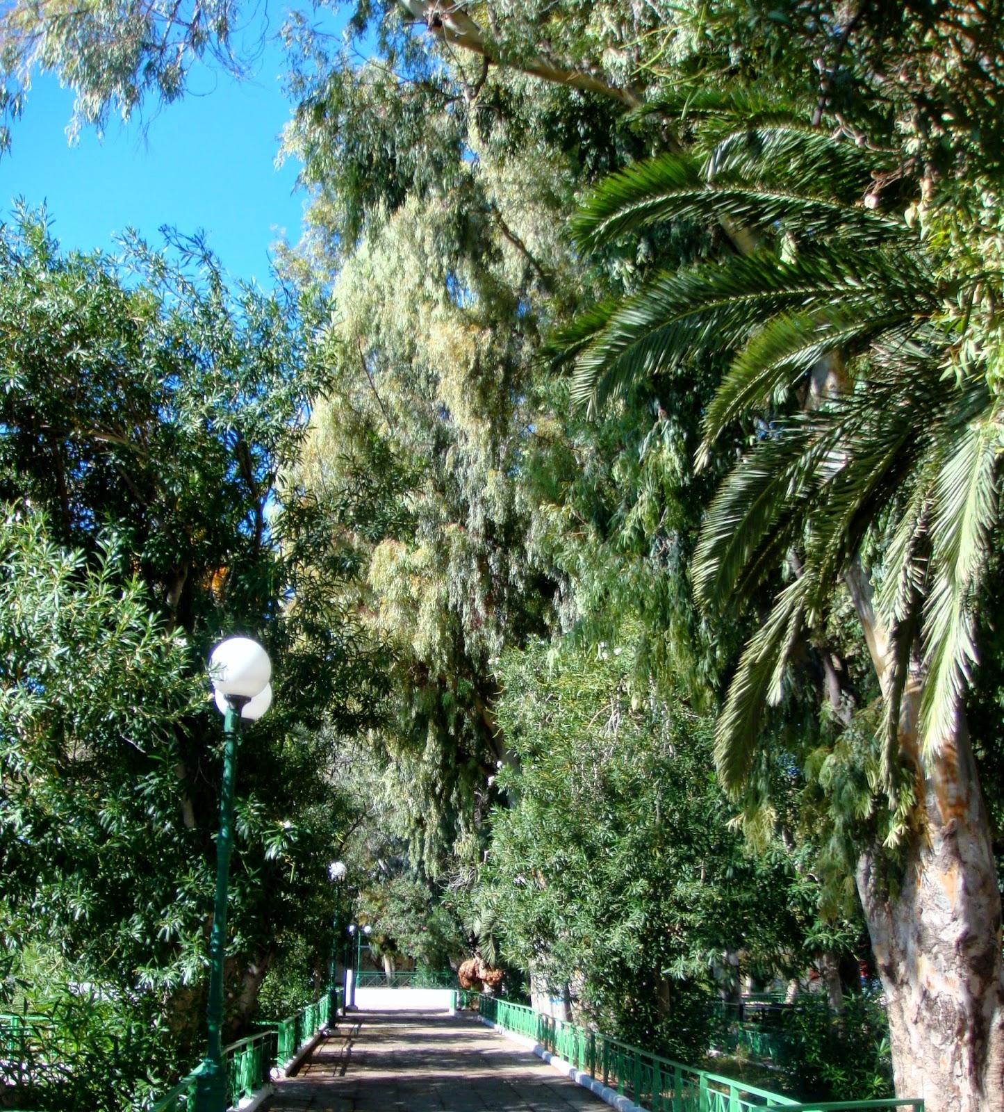 A shady walkway in Loutraki Park