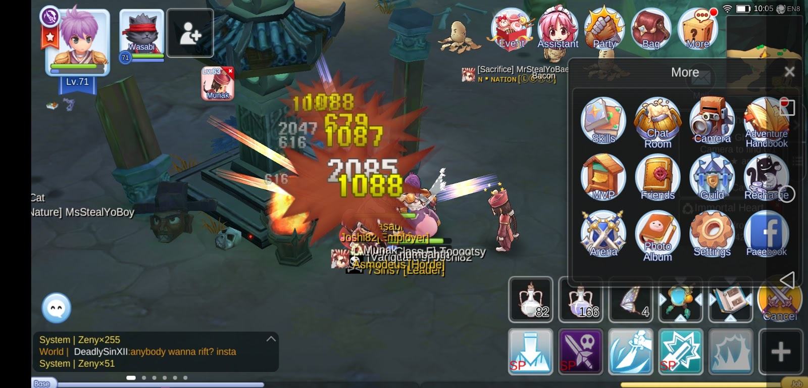 Android Ragnarok Mobile Eternal Love Interface And Game Function