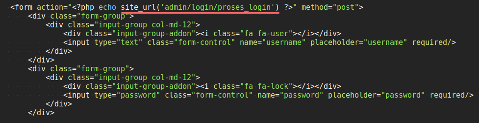 Example of Using site_url ()