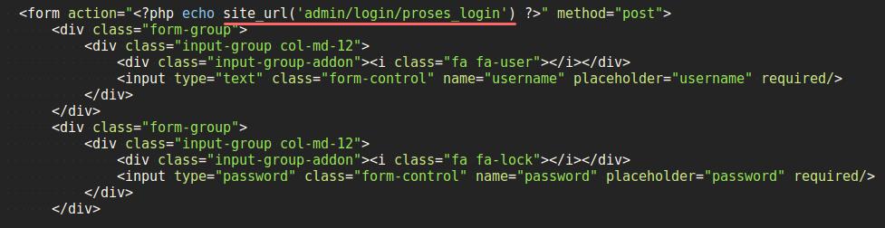 Contoh Penggunaan site_url()