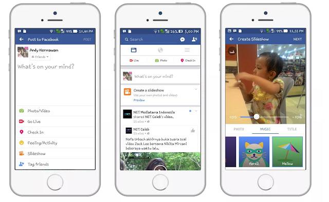 Rubah Gambar Jadi Video, Facebook Tawarkan Slideshow