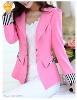 Blazer cor de rosa barato