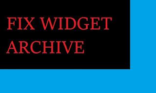 Memperbaiki Widget Google+ atau Archive yang error