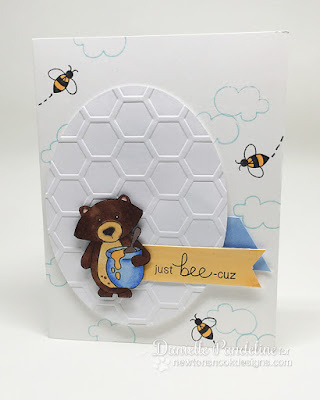 Just Bee Cuz | Newtons Nook Designs | Card Created by Danielle Pandeline
