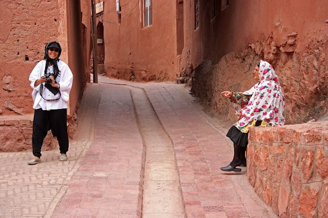 The reddish houses of Abyaneh. Kashan
