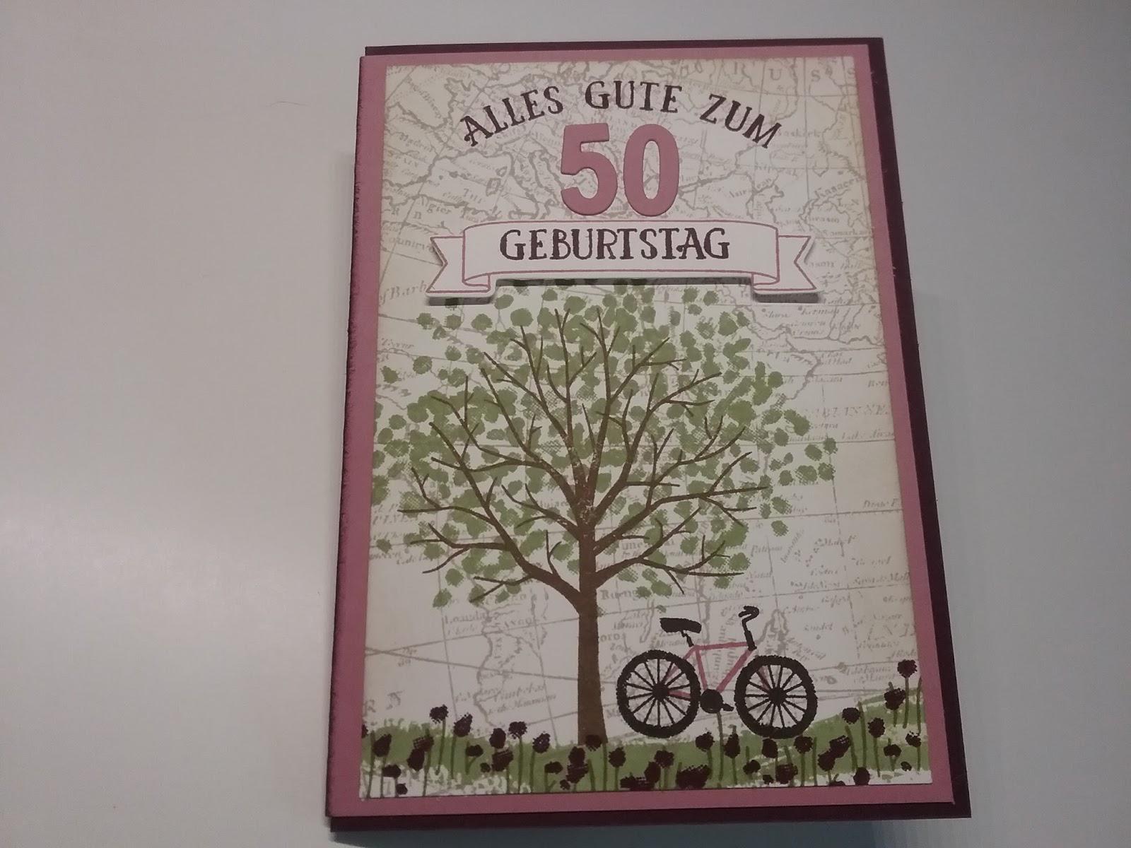 Claudi\'s Bastel-Büro: Geldgeschenk-Karte zum 50. Geburtstag