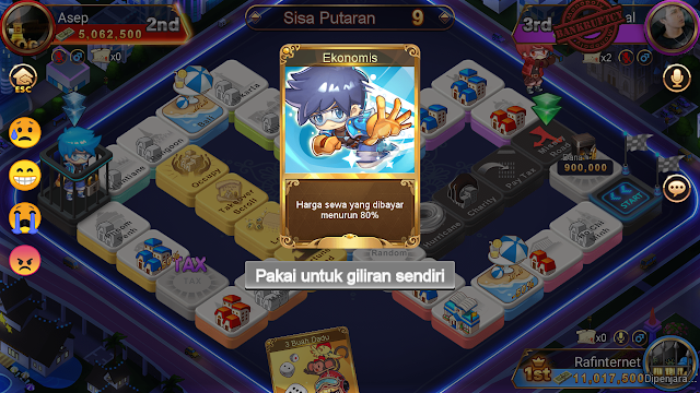 Cara main monopoli super II di hago