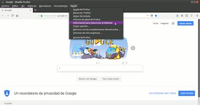 Firefox Ayuda Información para solucionar problemas
