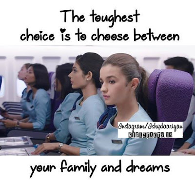 The toughest choice is to choose between your family and dreams