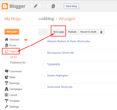 Sitemap Page in Blogger