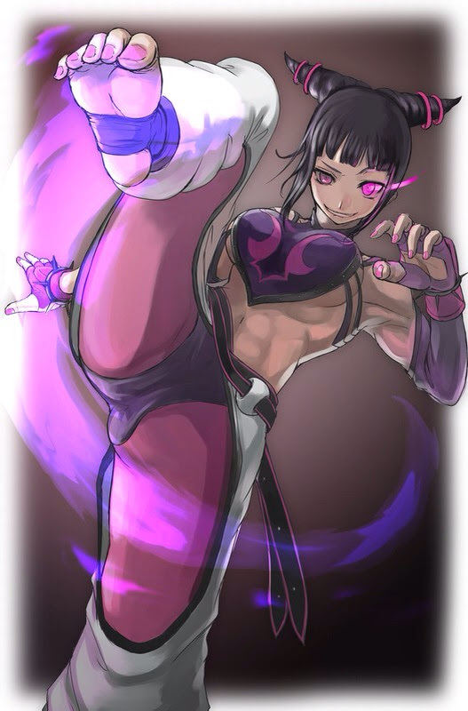 juri han showing off her feet and fantastic abs