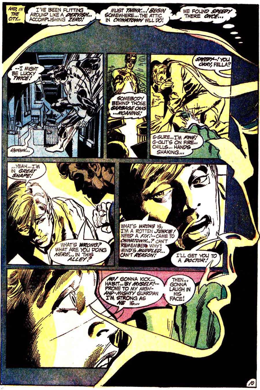 Green Lantern Green Arrow #86 dc comic book page art by Neal Adams