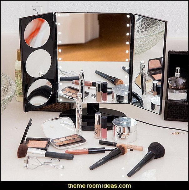 Hollywood Style Trifold LED Lighted Makeup Mirror