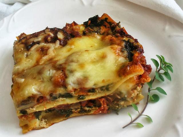 vegetarian mushroom lasagne