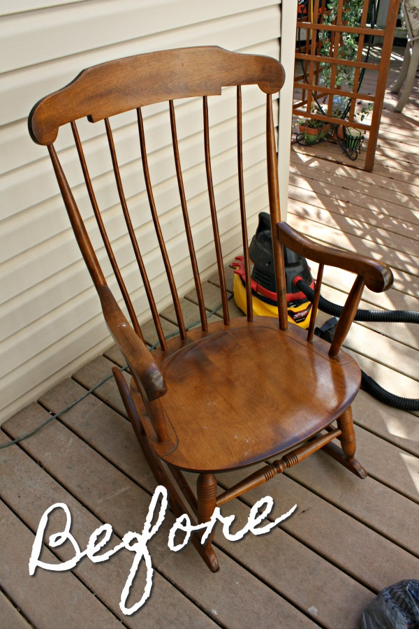 Nichols and Stone Company vintage rocking chair.