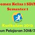 Promes Kelas 1 SD/MI Semester 1 Kurikulum 2013 Tahun Pelajaran 2018/2019 - Mutu Sekolah