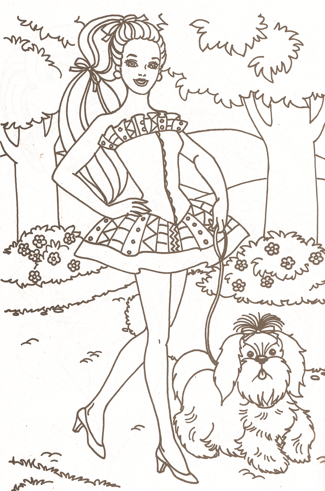 coloring pages book barbie - photo#7