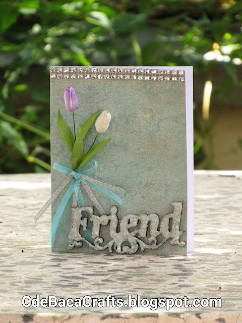 Beautiful Friendship Handmade Card for Inspiration by CdeBaca Crafts Blogger.