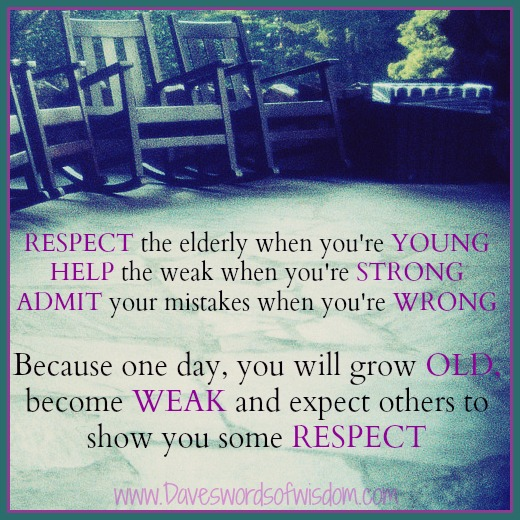 Respect your elders short essay