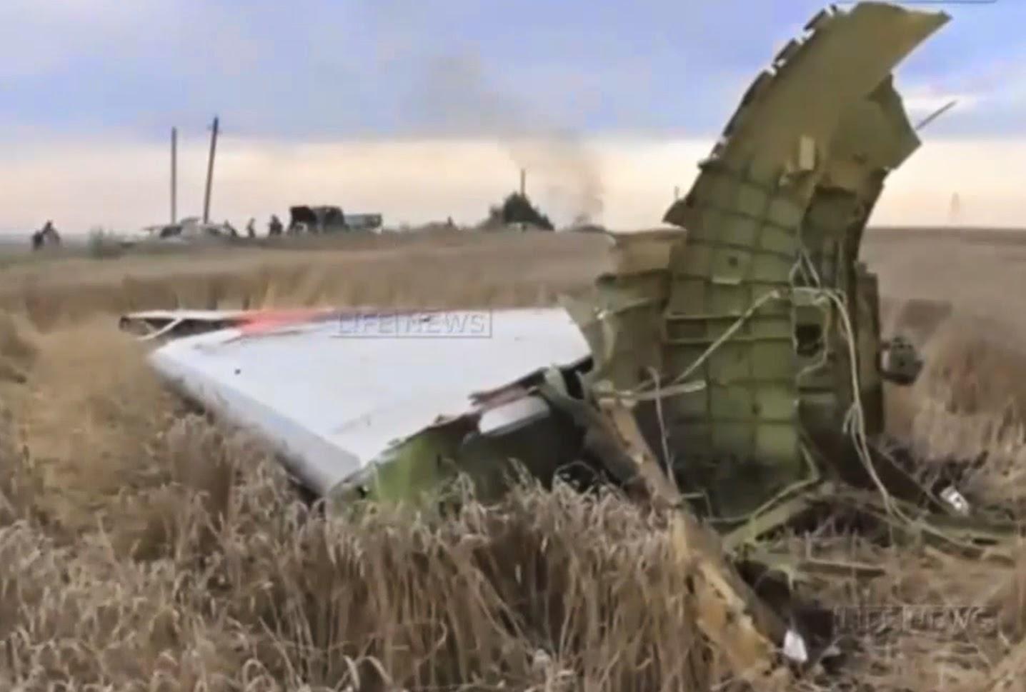 обломки сбитого самолёта