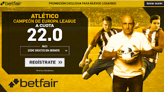 betfair supercuota Atlético campeon Europa League 16 mayo