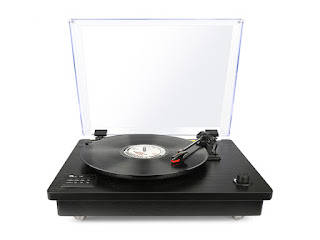 Belt Driven Bluetooth Turntable with Built-In Speaker