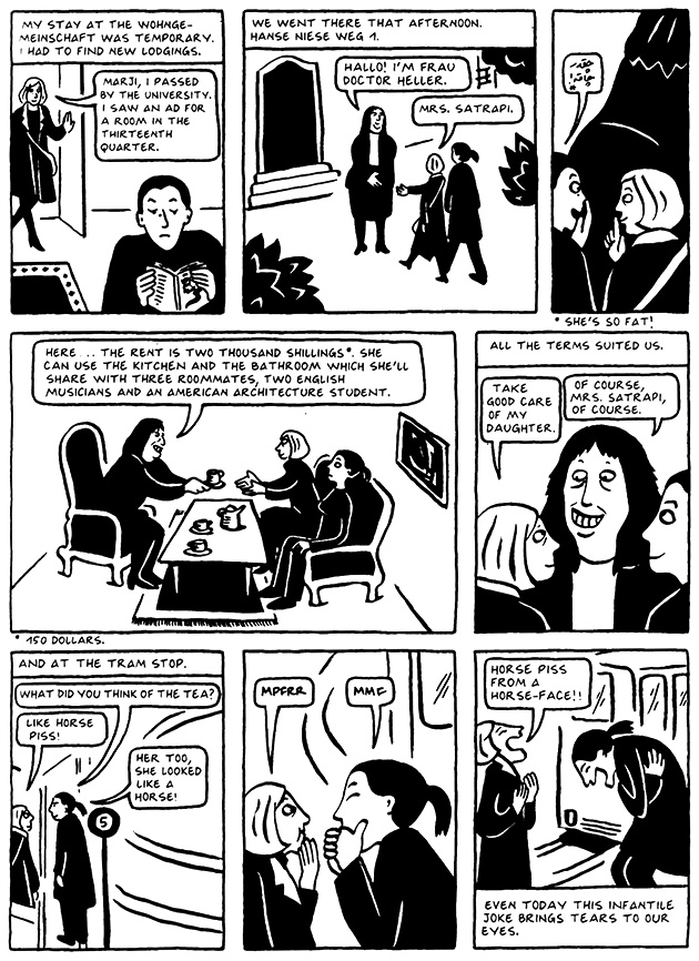 Read Chapter 6 - The Horse, page 51, from Marjane Satrapi's Persepolis 2 - The Story of a Return
