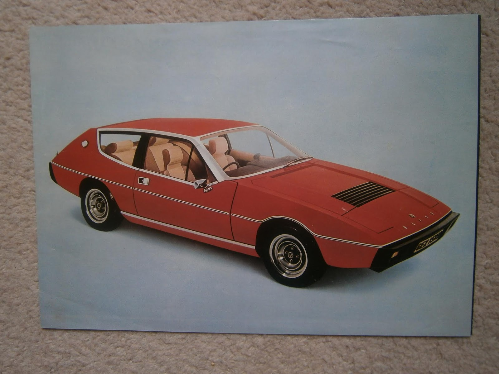 Vehicle Parts & Accessories Advertising Responsible Lotus Esprit Post Card Brochure Sales Literature
