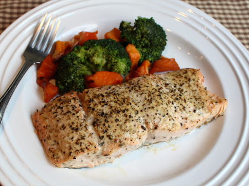 Baked Lemon Pepper Salmon – With Video