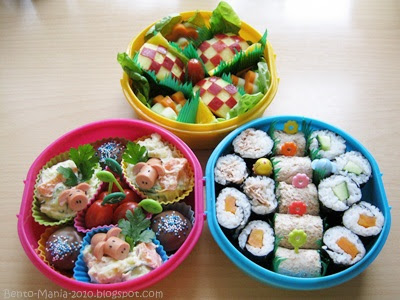 bento mania verr ckt nach der japanischen lunch box bento gro es picknick bento mit drei. Black Bedroom Furniture Sets. Home Design Ideas