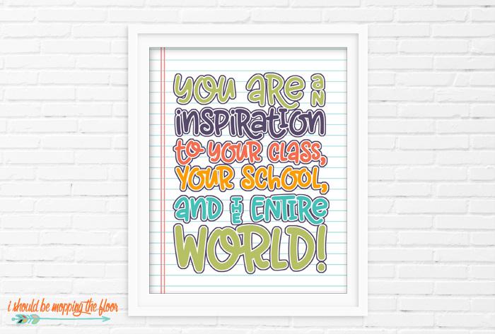 You are an Inspiration Printable