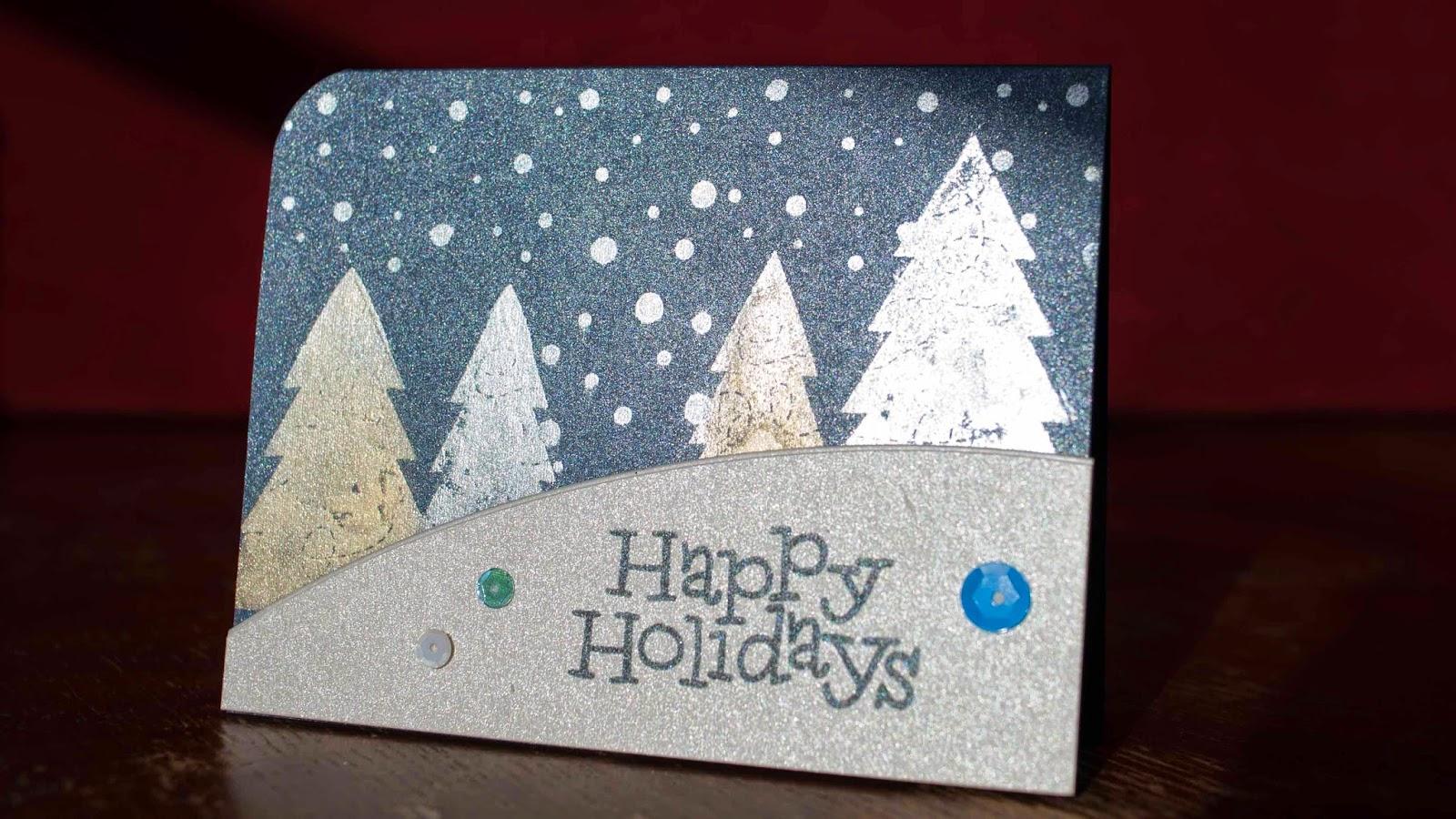 christmas card making tutorial - using perfect pearls and simon says stamp kit november