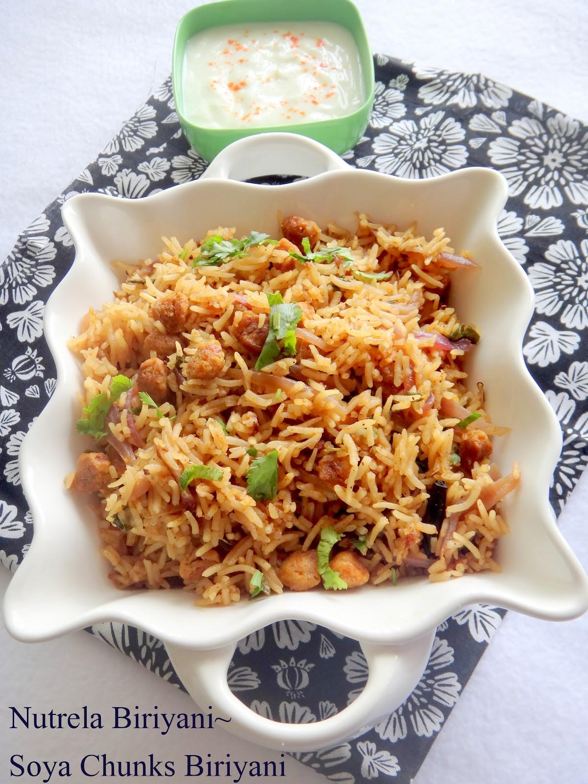 Prabha S Cooking Nutrela Biriyani Soya Chunks Biriyani