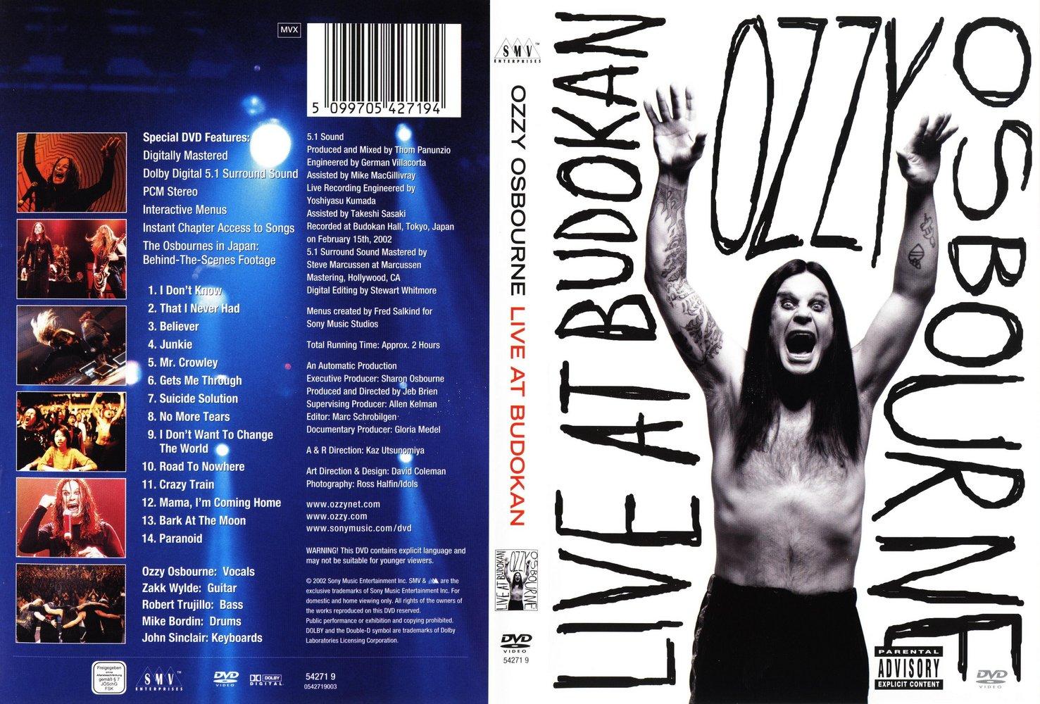 capas shows internacional ozzy osbourne live at budokan. Black Bedroom Furniture Sets. Home Design Ideas