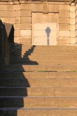 ombres, urbain, photo, ville, sol, mur