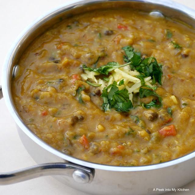 Dal Panchratan / Five Lentils Curry ~ Day 109