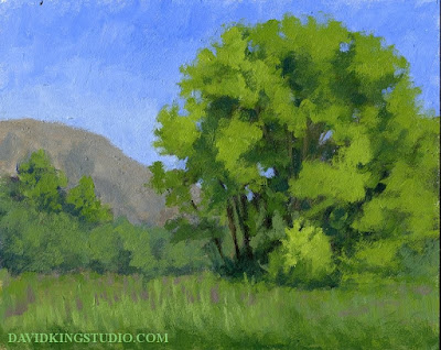 art painting plein air nature Ogden Valley green