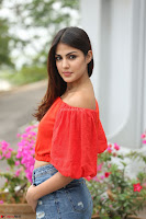 Rhea Chakraborty in Red Crop Top and Denim Shorts Spicy Pics ~  Exclusive 170.JPG