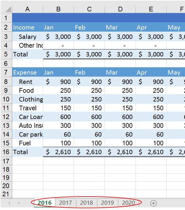 SAJEGA: Grouping Excel worksheets