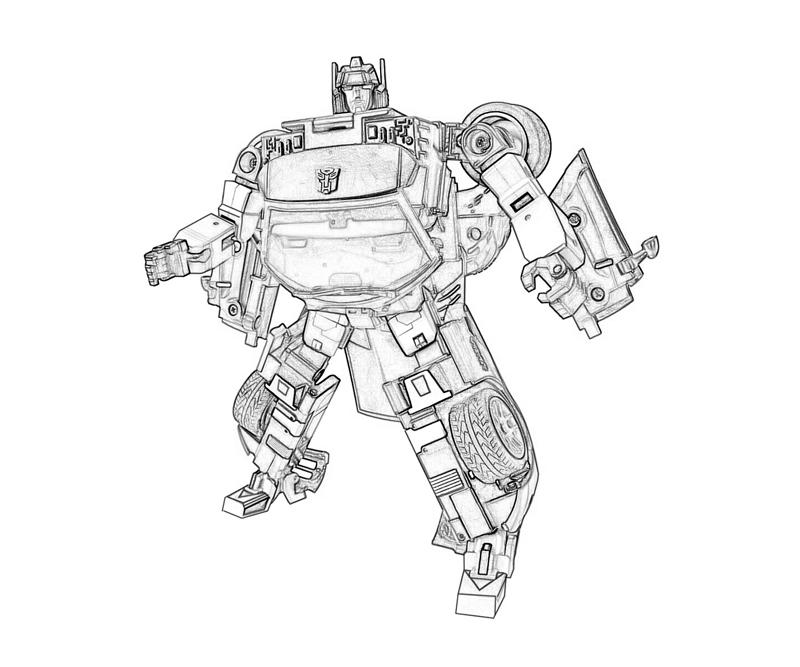 transformers coloring pages side swiper - photo#25