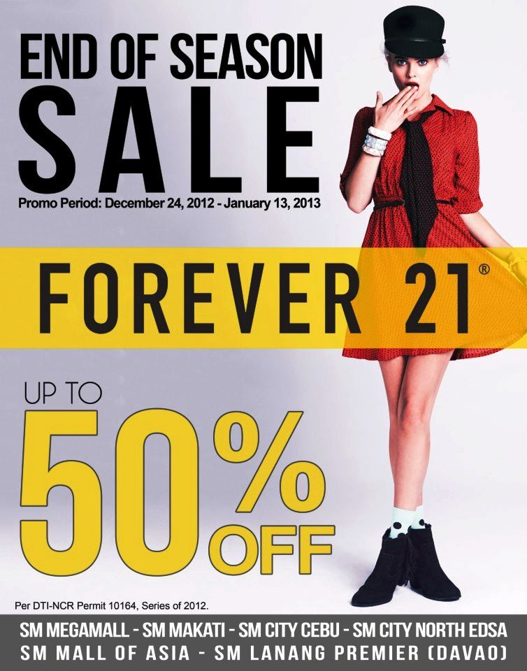 Manila Shopper Forever 21 End Of Season Sale Dec2012 Jan2013