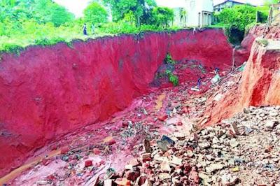 Fear As Big Gully 'Swallows' 50 Houses In Ogun... 8 landlords die