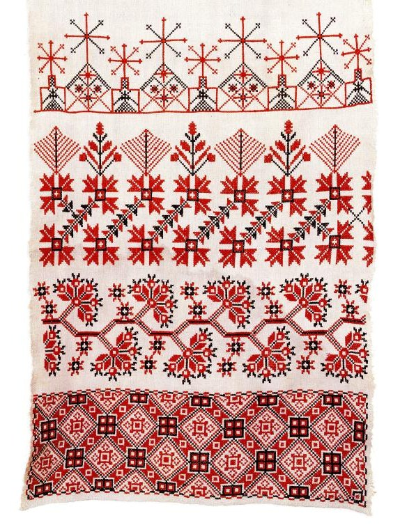 Hand embroidered ritual towel rushnik from Belarus