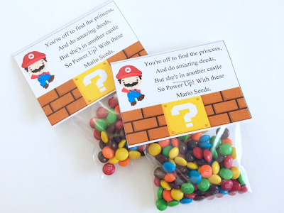 Super Mario party favor free printable