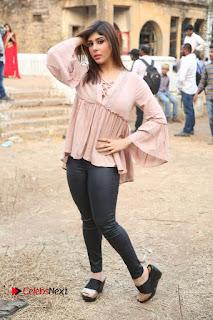 Telugu Actress Aditi Singh Stills in Leather Pants at Nenu Kidnap Iyanu Movie Press Meet  0237.JPG