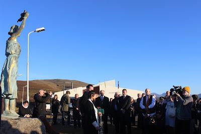 В Исландии освятили памятник морякам полярных конвоев в присутствии Президента Исландии и губернатора Архангельской области