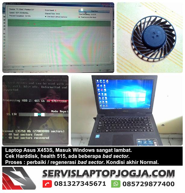 Laptop Asus X453 Masuk Windows Sangat Lambat