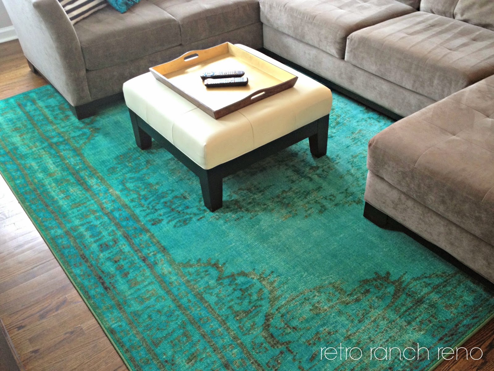 Relatively Retro Ranch Reno: Great Room Rugs. UM96