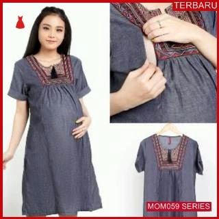 MOM059D15 Dress Hamil Menyusui Modis India Dresshamil Ibu Hamil